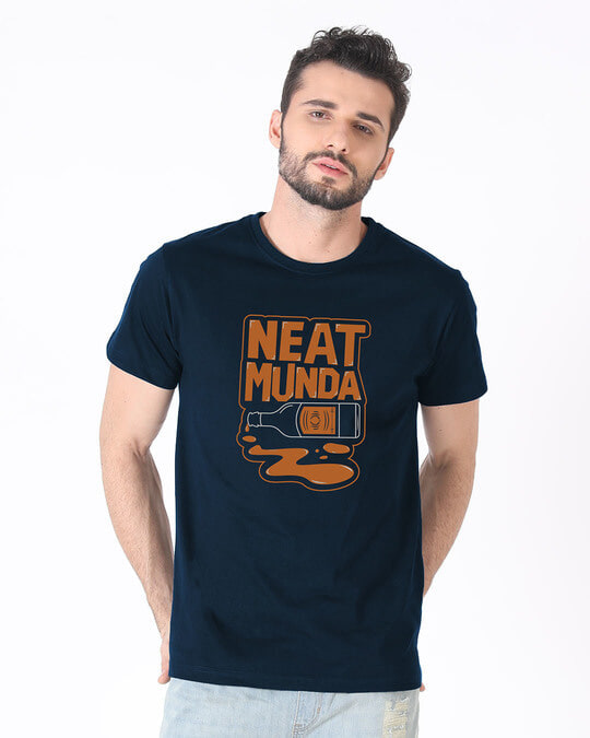 Shop Munda Neat Half Sleeve T-Shirt-Back