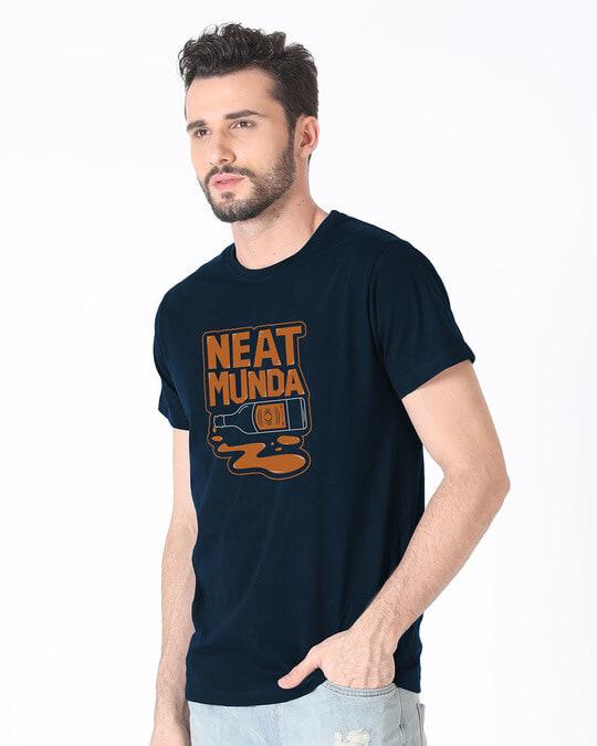 Shop Munda Neat Half Sleeve T-Shirt-Full