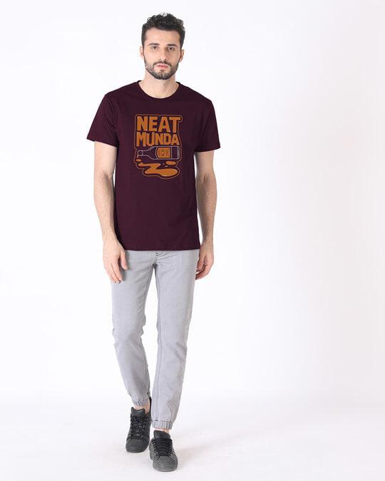 Shop Munda Neat Half Sleeve T-Shirt