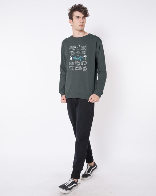 Shop Musafir Doodle Fleece Light Sweatshirt-Design