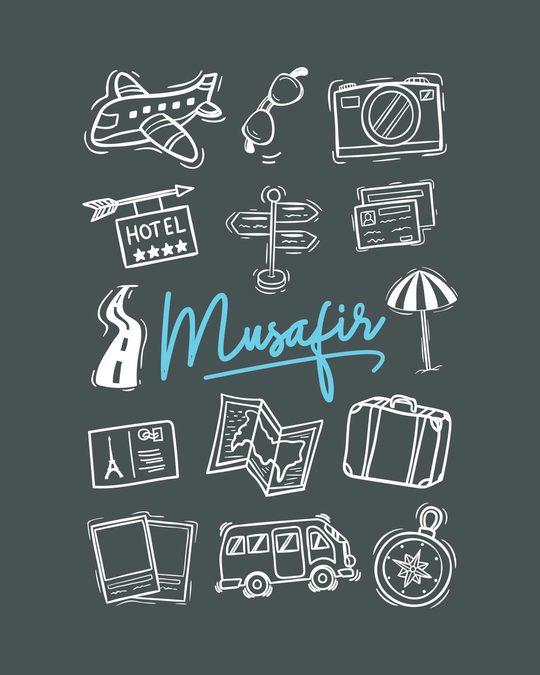 Shop Musafir Doodle Fleece Light Sweatshirt-Full