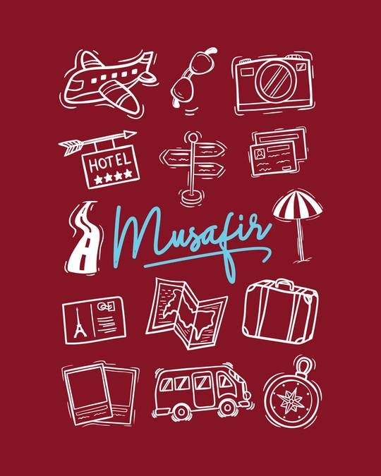 Shop Musafir Doodle Full Sleeve T-Shirt-Full
