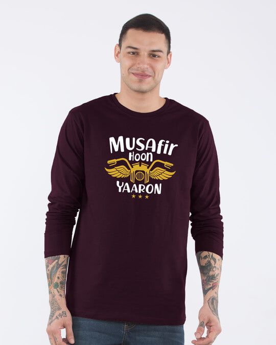 Shop Musafir Full Sleeve T-Shirt-Front