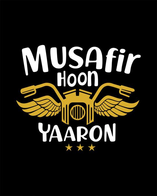 Shop Musafir Round Neck 3/4th Sleeve T-Shirt