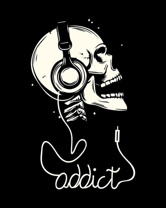 Shop Music Addict Half Sleeve T-Shirt