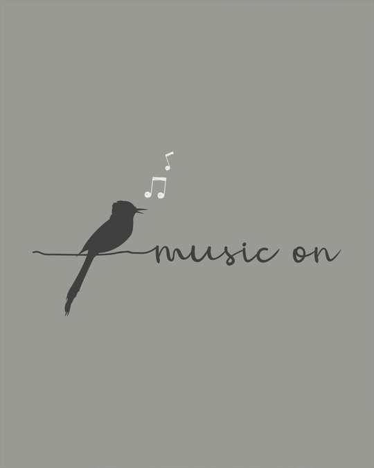 Shop Music Bird Round Neck 3/4th Sleeve T-Shirt-Full