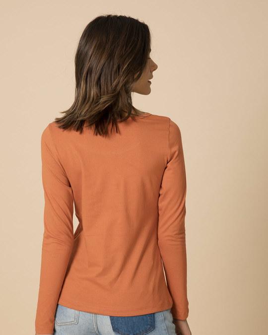 Shop Music Bird Scoop Neck Full Sleeve T-Shirt-Back