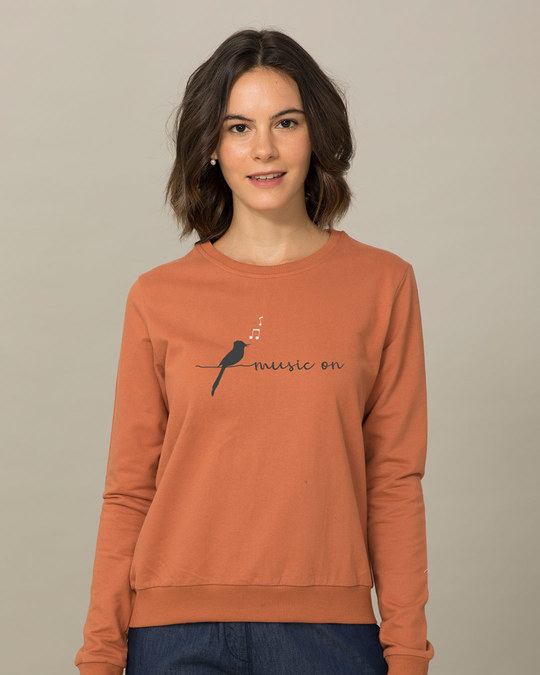 Shop Music Bird Sweatshirt-Front