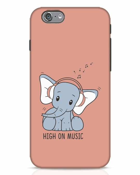 Shop Music Elephant iPhone 6s Mobile Cover-Front