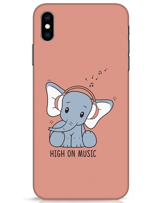 Shop Music Elephant iPhone XS Max Mobile Cover-Front