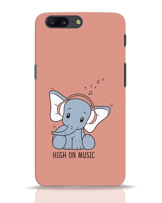 Shop Music Elephant OnePlus 5 Mobile Cover-Front