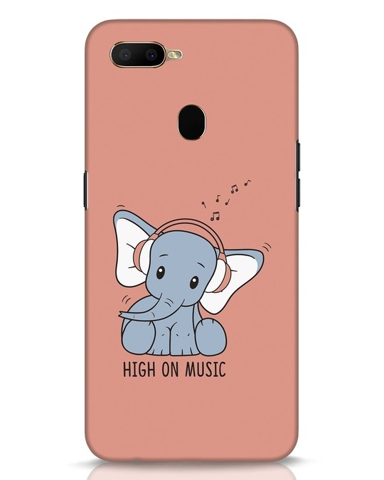 Shop Music Elephant Oppo A5s Mobile Cover-Front