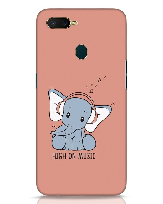 Shop Music Elephant Oppo A7 Mobile Cover-Front