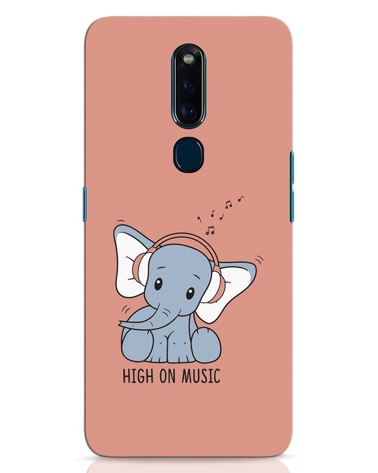 Shop Music Elephant Oppo F11 Pro Mobile Cover-Front