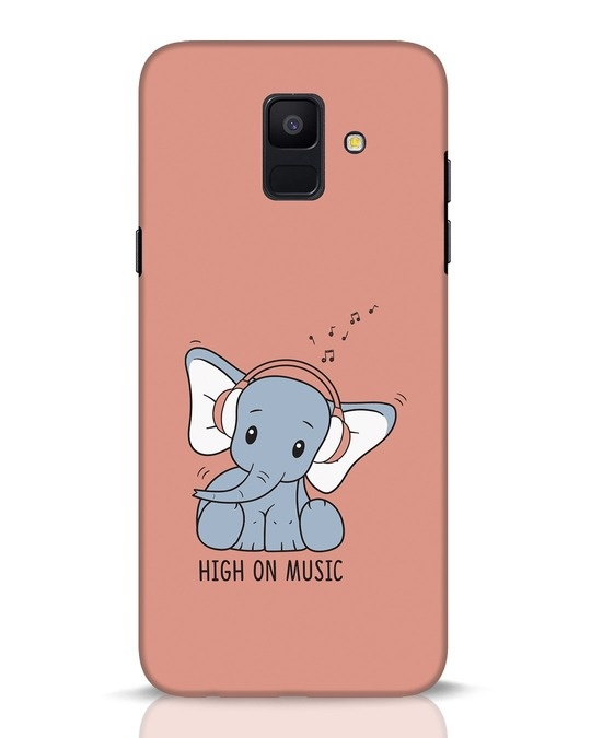 Shop Music Elephant Samsung Galaxy A6 2018 Mobile Cover-Front