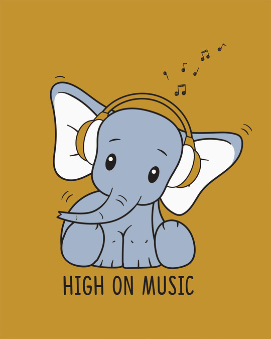 Shop Music Elephant Scoop Neck Full Sleeve T-Shirt-Full