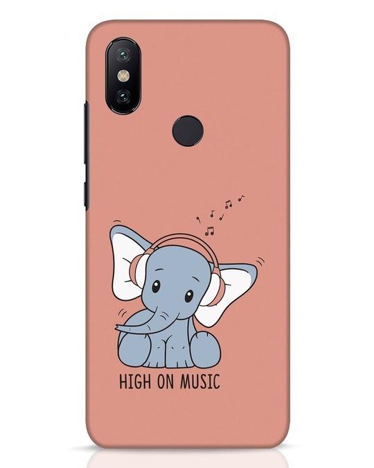 Shop Music Elephant Xiaomi Mi A2 Mobile Cover-Front