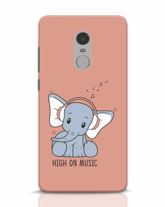 Shop Music Elephant Xiaomi Redmi Note 4 Mobile Cover-Front