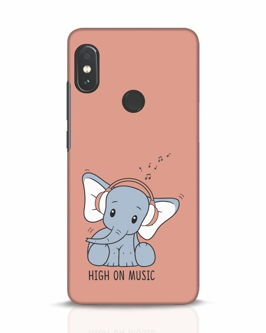 Shop Music Elephant Xiaomi Redmi Note 5 Pro Mobile Cover-Front