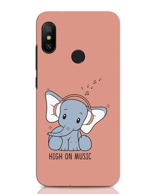 Shop Music Elephant Xiaomi Redmi Note 6 Pro Mobile Cover-Front