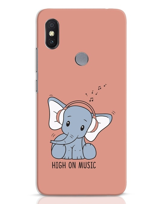Shop Music Elephant Xiaomi Redmi Y2 Mobile Cover-Front