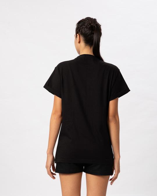 Shop Music Gradient Logo Boyfriend T-Shirt-Back