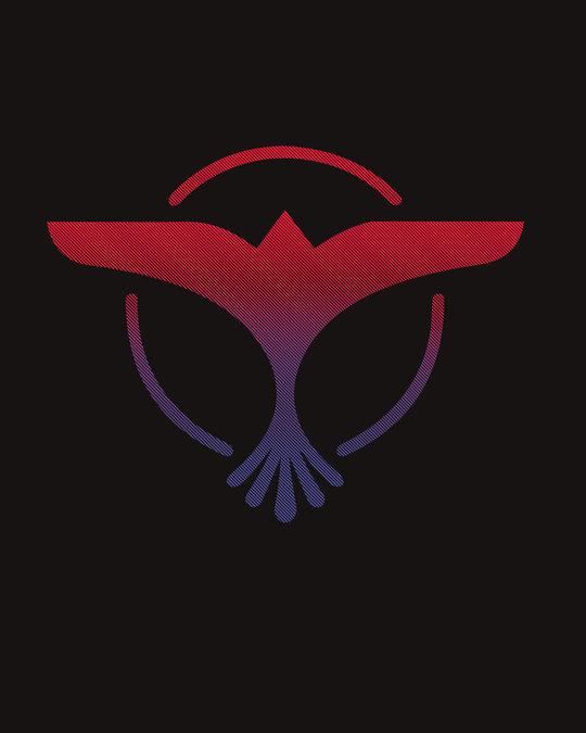 Shop Music Gradient Logo Boyfriend T-Shirt-Full