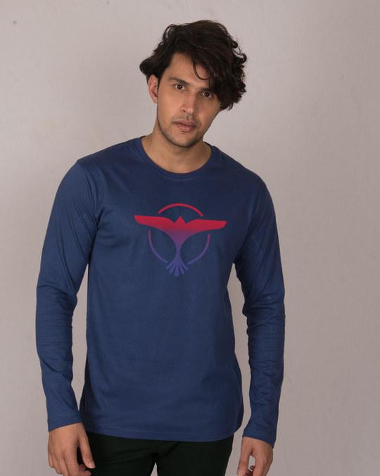 Shop Music Gradient Logo Full Sleeve T-Shirt-Front