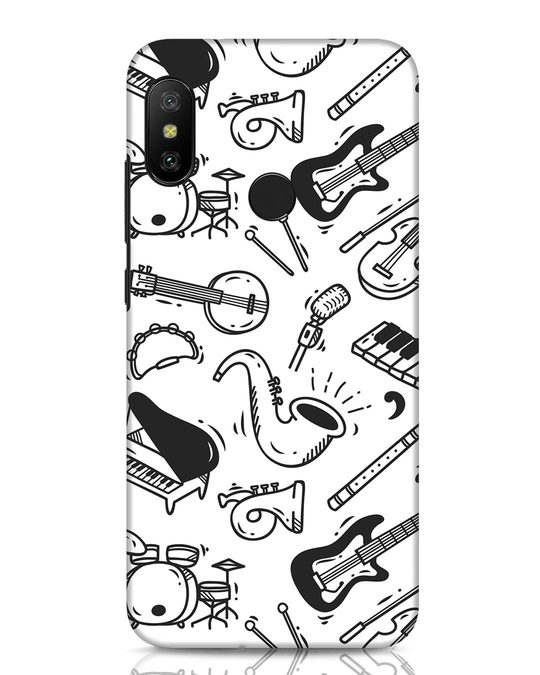 Shop Music Instruments Xiaomi Redmi Note 6 Pro Mobile Cover-Front