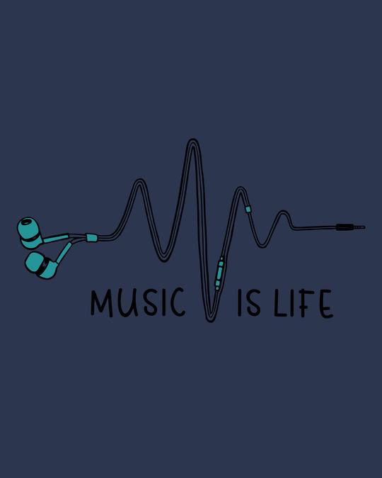 Shop Music Is Life Earphones Vest