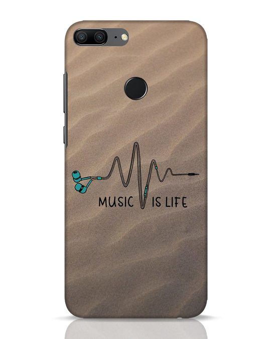 Shop Music Is Life Huawei Honor 9 Lite Mobile Cover-Front