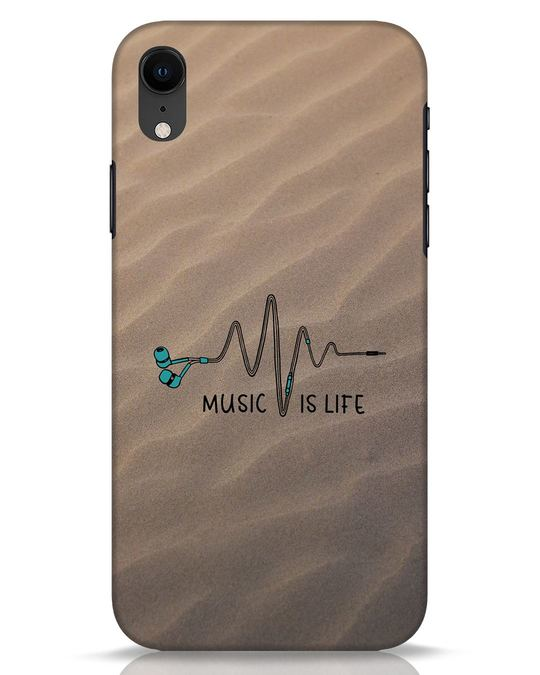 Shop Music Is Life iPhone XR Mobile Cover-Front