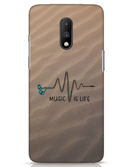 Shop Music Is Life OnePlus 7 Mobile Cover-Front