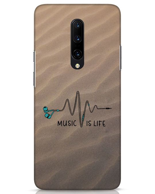 Shop Music Is Life OnePlus 7 Pro Mobile Cover-Front