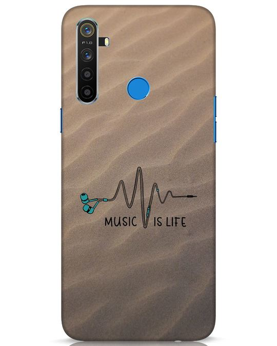 Shop Music Is Life Realme 5 Mobile Cover-Front