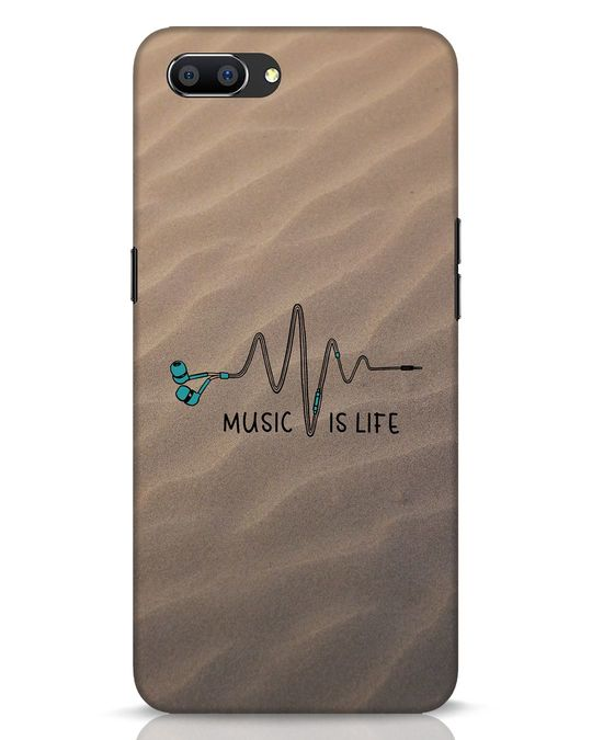 Shop Music Is Life Realme C1 Mobile Cover-Front