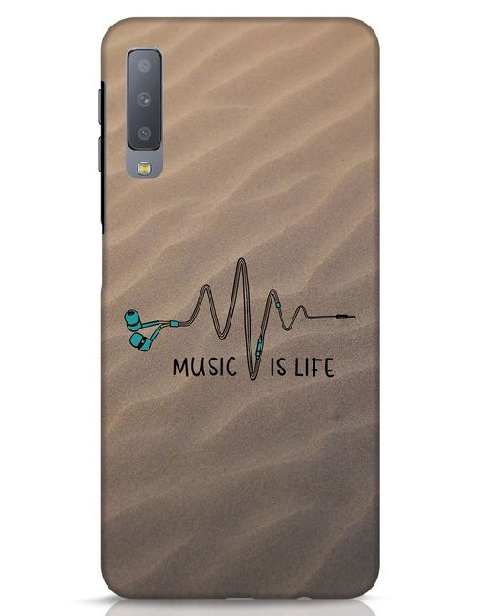 Shop Music Is Life Samsung Galaxy A7 Mobile Cover-Front