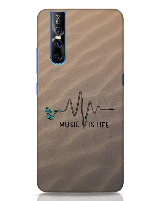 Shop Music Is Life Vivo V15 Pro Mobile Cover-Front