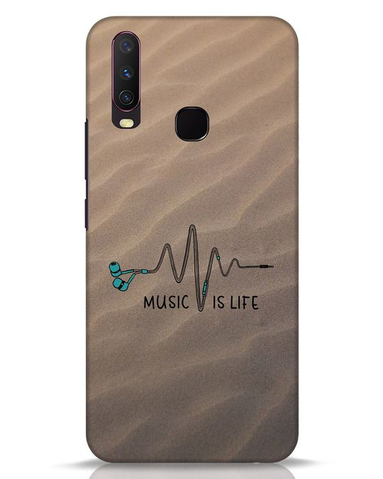 Shop Music Is Life Vivo Y17 Mobile Cover-Front