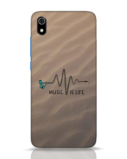 Shop Music Is Life Xiaomi Redmi 7A Mobile Cover-Front