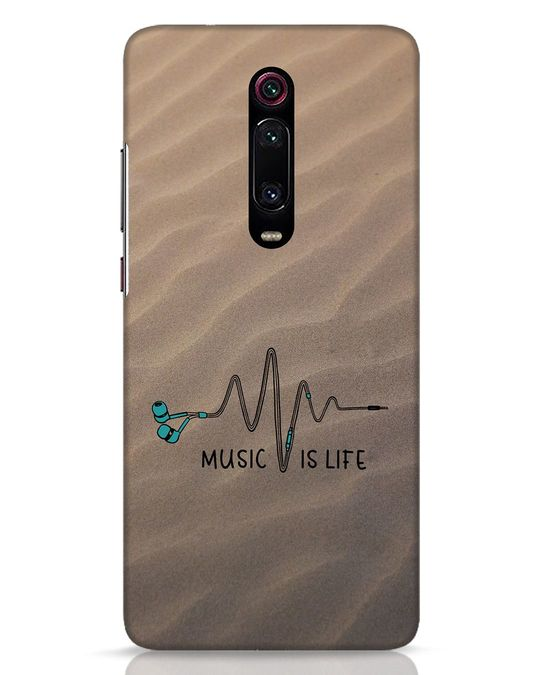 Shop Music Is Life Xiaomi Redmi K20 Mobile Cover-Front
