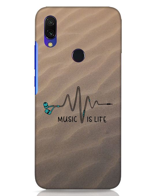 Shop Music Is Life Xiaomi Redmi Y3 Mobile Cover-Front