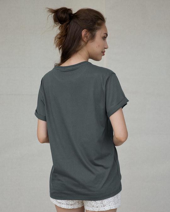 Shop Music Is My Escape Boyfriend T-Shirt-Back