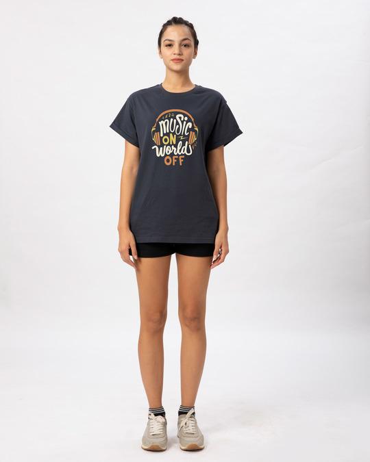 Shop Music On World Boyfriend T-Shirt