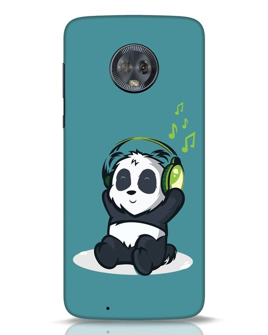 Shop Music Panda Moto G6 Mobile Cover-Front