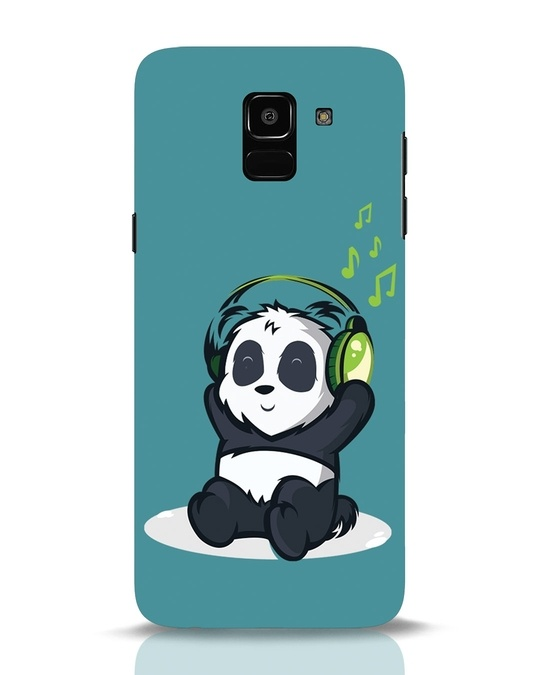 Shop Music Panda Samsung Galaxy J6 Mobile Cover-Front