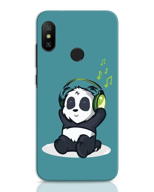 Shop Music Panda Xiaomi Redmi 6 Pro Mobile Cover-Front