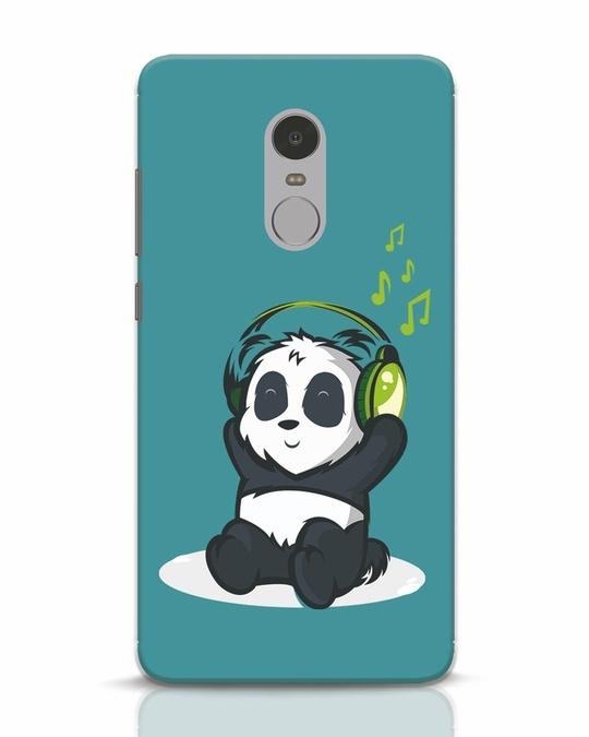 Shop Music Panda Xiaomi Redmi Note 4 Mobile Cover-Front