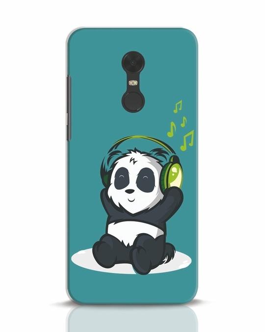 Shop Music Panda Xiaomi Redmi Note 5 Mobile Cover-Front