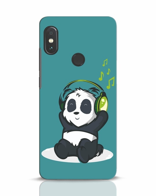 Shop Music Panda Xiaomi Redmi Note 5 Pro Mobile Cover-Front